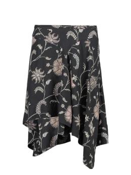 garcia asymmetrische rok met allover print i90120 zwart