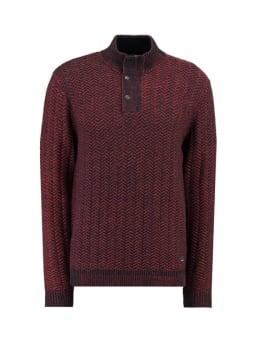 garcia trui met zigzag knit I91047 blauw
