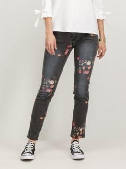 garcia jeans met opdruk t80320 grijs