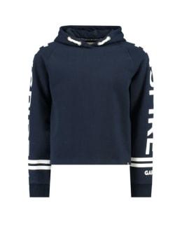 garcia hoodie met tekstprint i92466 donkerblauw