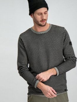 garcia trui h91243-60 zwart-grijs