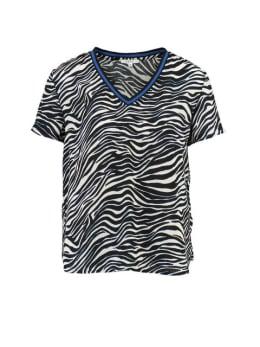 Yezz T-shirt Korte Mouwen PY900302 Zebraprint Zwart-Wit
