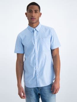 garcia overhemd met korte mouwen o01035 lichtblauw