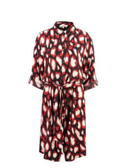 garcia jurk met allover print g90086 zwart