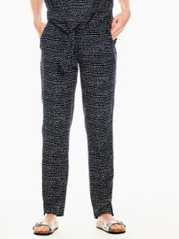 garcia broek met allover print donkerblauw q00112