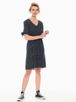 garcia jurk met allover print donkerblauw q00081