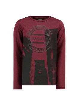 garcia t-shirt met fotoprint i93404 rood