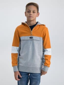 garcia hoodie m03462 oranje-grijs