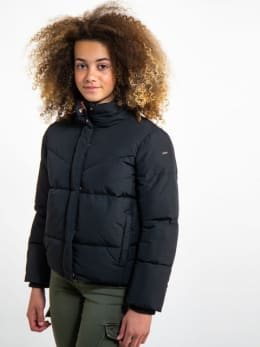garcia puffer jas gj920811 zwart