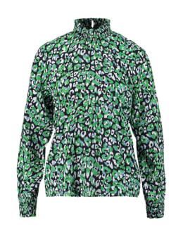 garcia blouse met panterprint pg000310 blauw