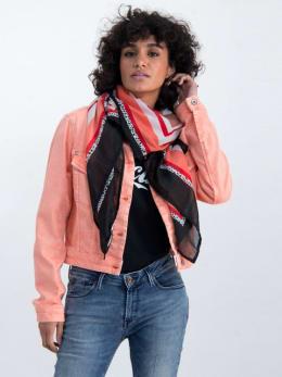 garcia sjaal met print n00330 koraalroze