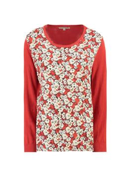 garcia trui met print h90241 rood