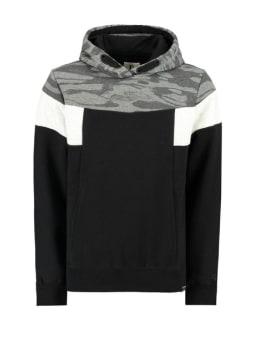 garcia hoodie met legerprint i93462 zwart