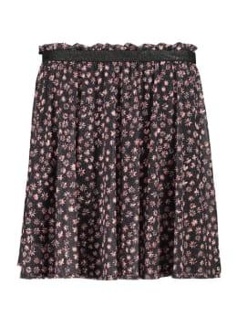 garcia rok met bloemenprint h92722 zwart