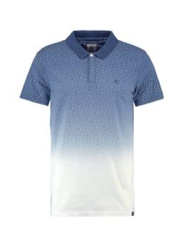 garcia polo e91072 blauw-wit met print