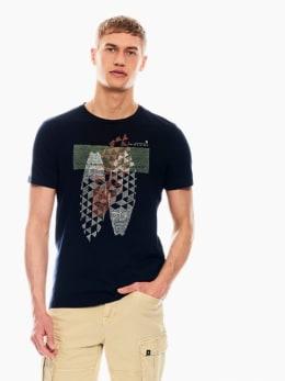 garcia t-shirt donkerblauw p01201