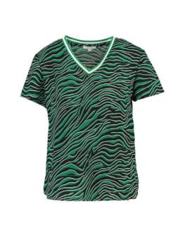 Yezz T-shirt Korte Mouwen PY900302 Zebraprint Groen-Zwart
