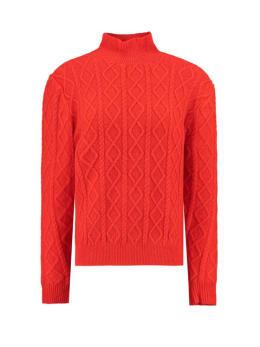 garcia gebreide trui j90248 oranje-rood