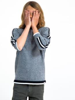garcia trui met strepen h93643 grijs