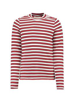 garcia gestreepte long sleeve j92606 rood-wit