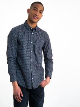 garcia overhemd met allover print h91226 grijs