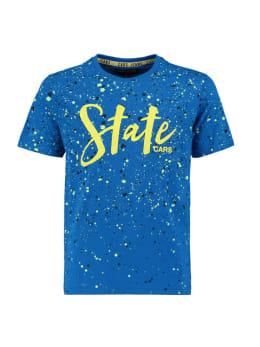 cars t-shirt met opdruk dayson blauw