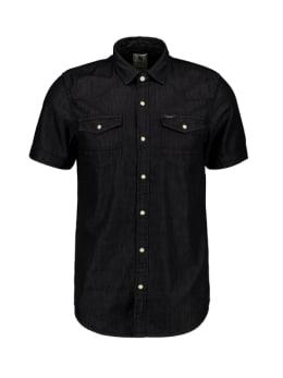 garcia overhemd met korte mouwen zwart pg010316