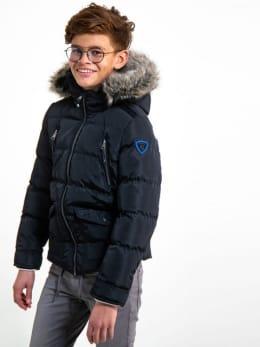 garcia jas met bontkraag gj930803 zwart