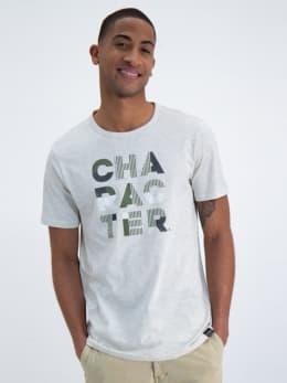 garcia t-shirt met tekst n01201-1464 grijs