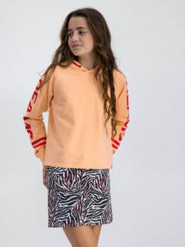 garcia hoodie met opdruk gs020100 oranje