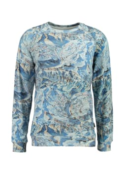 dedicated sweater met allover design blauw