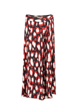 garcia lange rok met allover print g90120 zwart