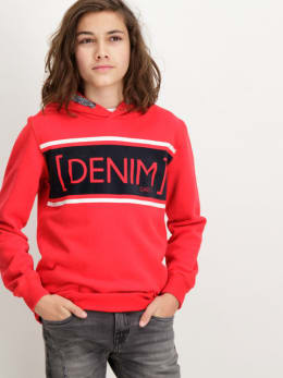 garcia hoodie met opdruk w83460 rood