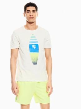 garcia t-shirt met opdruk wit q01012