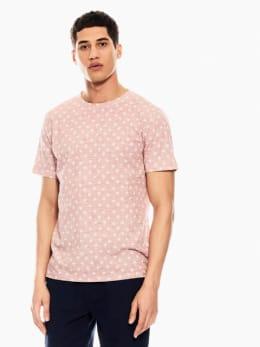 garcia t-shirt met allover print roze q01007