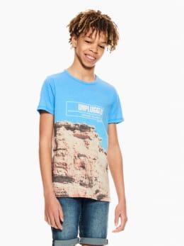 garcia t-shirt blauw p03604