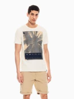 garcia t-shirt met opdruk wit q01004