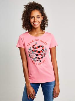 yezz t-shirt met opdruk py800952 roze