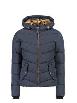 garcia jas met capuchon gj920810 donkerblauw