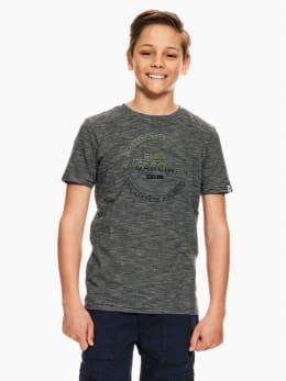 garcia t-shirt gestreept donkerblauw ge030401