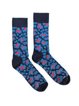 sokken Happy Socks Leopard Blue men