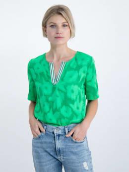 garcia blouse met bloemendessin o00034 groen