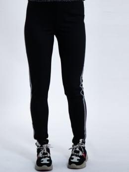 garcia legging met glitterstrepen k90110 zwart