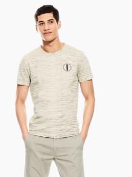 garcia t-shirt gestreept wit p01204