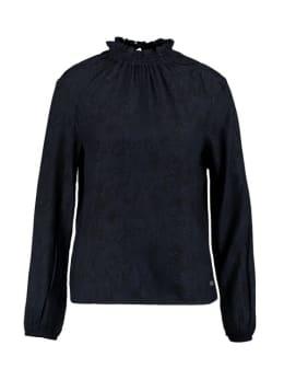 garcia blouse met allover slangenprint pg901102 blauw