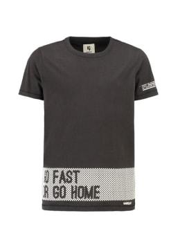 garcia t-shirt met korte mouw h93600 zwart