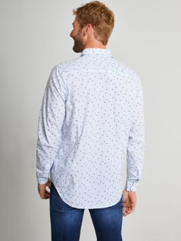 garcia overhemd met allover print I91034 wit