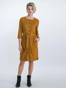 garcia suedine jurk n00284 bruin