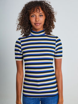 yezz gestreept t-shirt met turtleneck py900803 multicolor