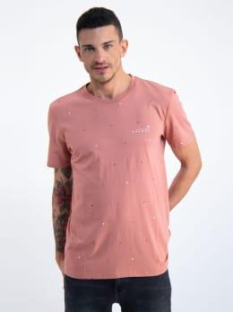 garcia t-shirt met allover print n01203 roze